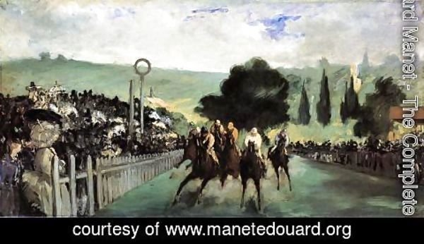 Edouard Manet - Racetrack Near Paris  1864