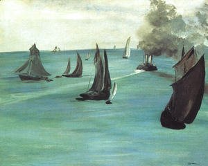 Edouard Manet - The Beach at Sainte-Adresse  1867