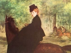 Edouard Manet - The Horsewoman  1875