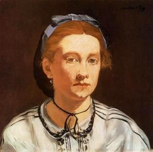 Edouard Manet - Portrait of Victorine Meurent  1862