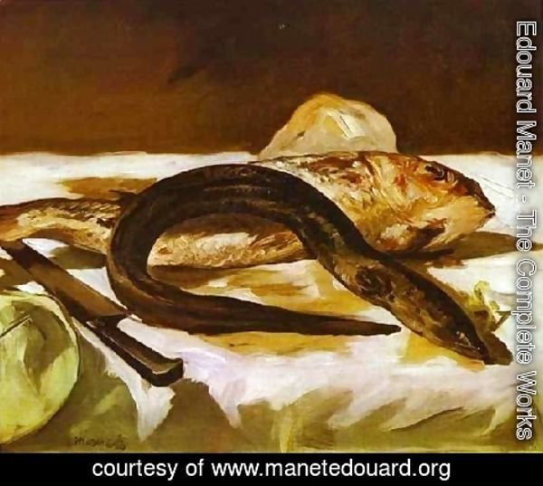 Edouard Manet - Still Life With Eel And Red Muller