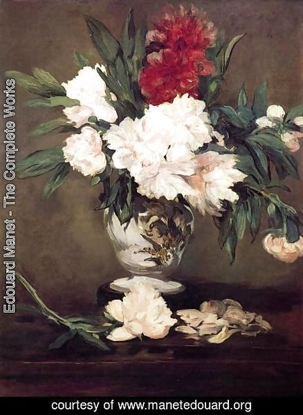 Edouard Manet - Peonies In A Vase