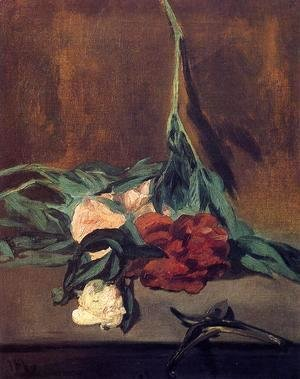 Edouard Manet - Peony Stem And Shears