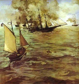 Edouard Manet - The Battle Of The Kearsarge And The Alabama
