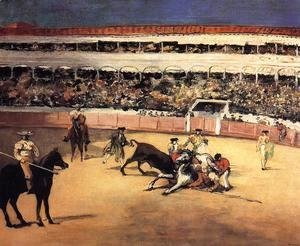 Bull Fighting Scene
