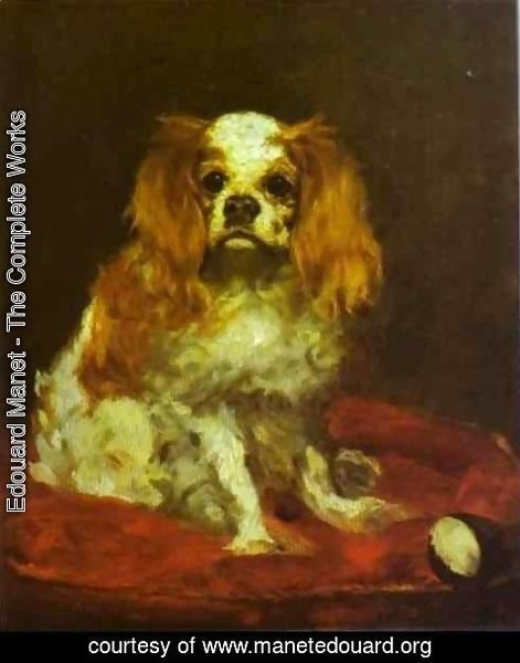 Edouard Manet - A King Charles Spaniel