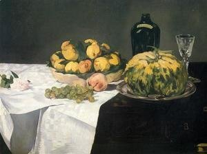 Edouard Manet - Still Life with Melon and Peaches  1866