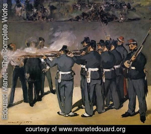 Edouard Manet - The Execution of the Emperor Maximilian  1867