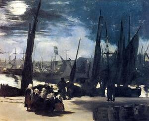 Edouard Manet - Moonlight Over The Port Of Boulogne