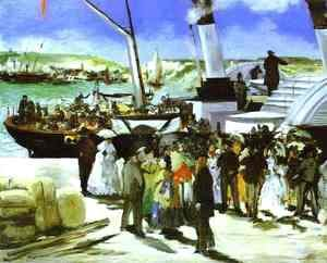 Edouard Manet - The Depature Of The Folkestone Boat