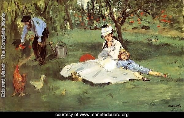 The Monet Family In The Garden