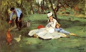 Edouard Manet - The Monet Family In The Garden