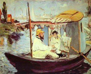 Edouard Manet - Painting On His Studio Boat