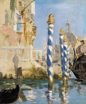 Edouard Manet - The Grand Canal   Venice