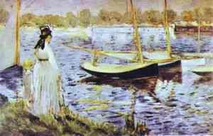 Edouard Manet - The Banks Of The Seine At Argenteuil