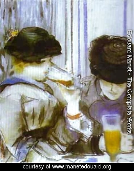 Edouard Manet - Two Women Drinking Bocks