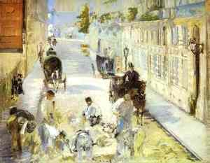 Edouard Manet - The Road Menders   Rue De Berne