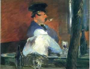 Edouard Manet - In The Bar   Le Bouchon