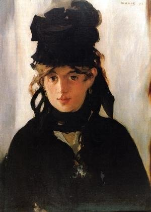 Edouard Manet - Berthe Morisot Holding a Bunch of Violets  1872