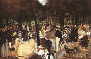 Edouard Manet - Concert in the Tuileries  1860-62