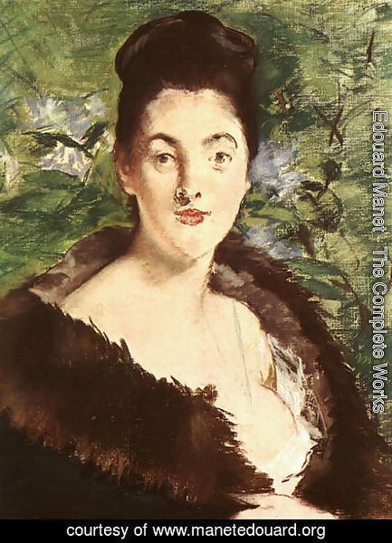 Edouard Manet - Lady with a Fur 1880