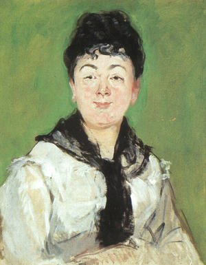 Edouard Manet - Portrait of a Lady with a Black Fichu  1878
