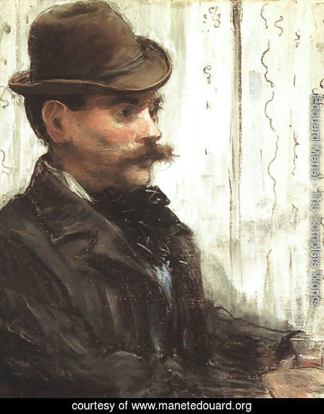 Portrait of Alphonse Maureau (Man with a Round Hat)  1880