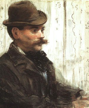 Edouard Manet - Portrait of Alphonse Maureau (Man with a Round Hat)  1880