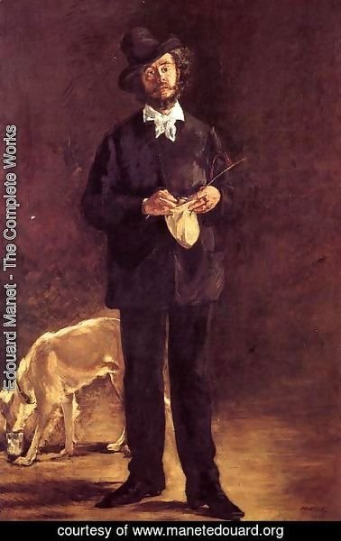 Edouard Manet - Portrait of Gilbert-Marcellin Desboutin  1875