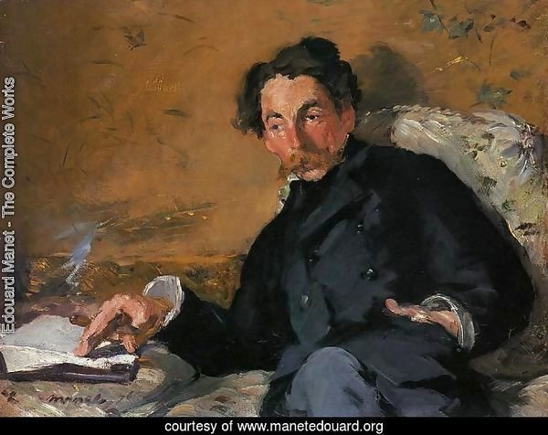 Portrait of Stephane Mallarme 1876