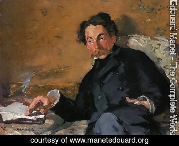 Edouard Manet - Portrait of Stephane Mallarme 1876