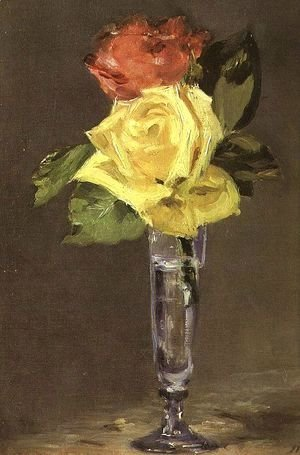 Edouard Manet - Roses in a Champagne Glass  1882