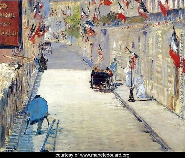 Rue Mosnier with Flags  1878