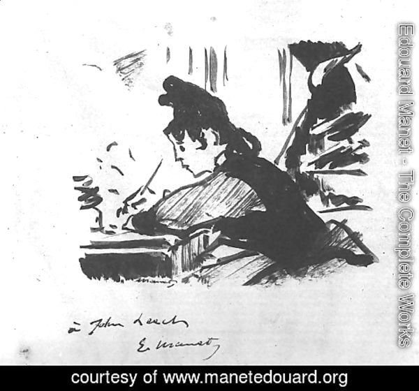 Edouard Manet - Woman Writing  1862-64
