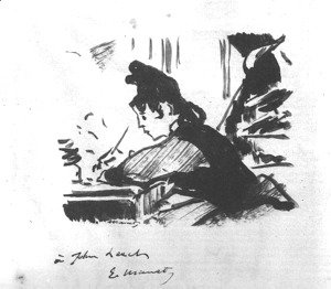 Woman Writing  1862-64